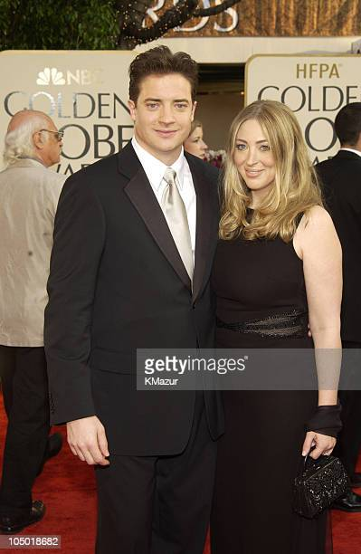 Brendan Fraser and Afton Smith during The 60th Annual Golden Globe Awards Arrivals at The Beverly Hilton Hotel in Beverly Hills California United...