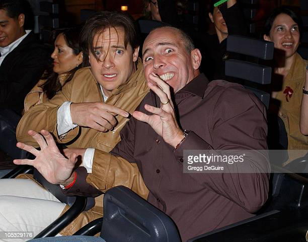 Brendan Fraser and Arnold Vosloo during 'The Revenge Of The Mummy The Ride' Opening At Universal Studios at Universal Studios in Universal City...