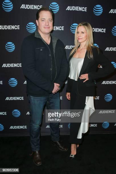 Brendan Fraser and Mira Sorvino attend the ATT AUDIENCE Network 2018 Winter TCA on January 11 2018 in Pasadena California
