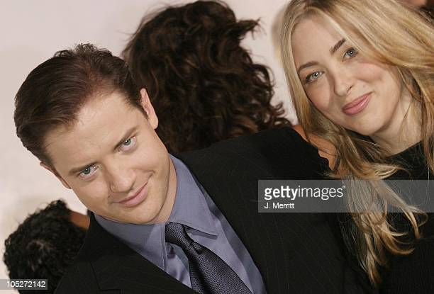 Brendan Fraser and wife Afton during Giorgio Armani Receives The First Rodeo Drive Walk Of Style Award Arrivals at Rodeo Drive Walk Of Style in...
