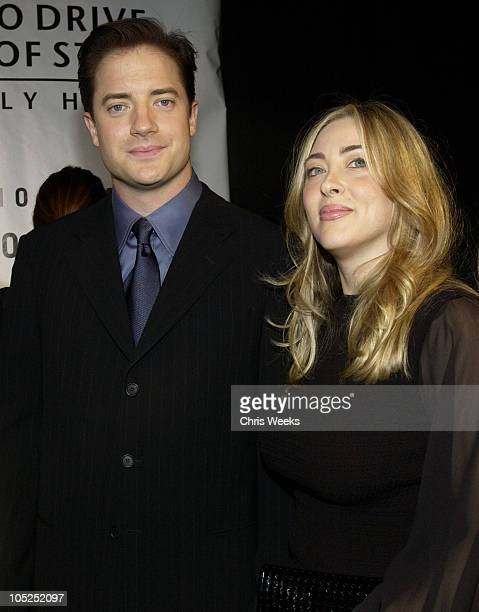 Brendan Fraser and wife Afton Smith during Giorgio Armani Receives The First Rodeo Drive Walk Of Style Award Arrivals at Rodeo Drive Walk Of Style in...