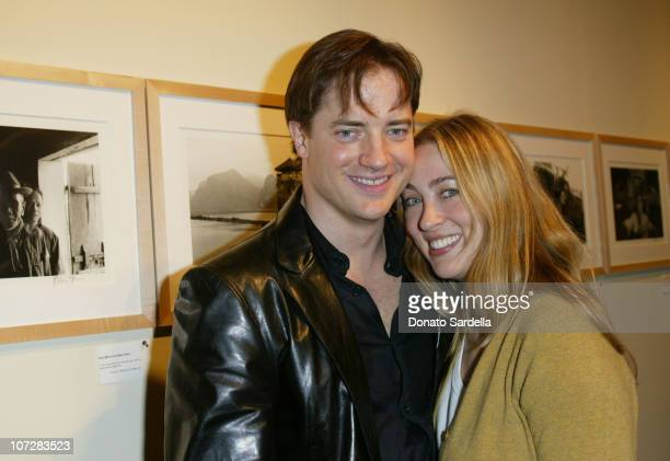 Brendan Fraser and wife Afton Smith during Opening Night Exhibition Of Photographs By Brendan Fraser To Benefit The 24th Street Theater at 24th...