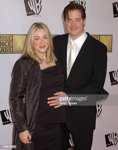 Brendan Fraser and wife during 11th Annual Critics' Choice Awards Arrivals at Santa Monica Civic Auditorium in Santa Monica California United States