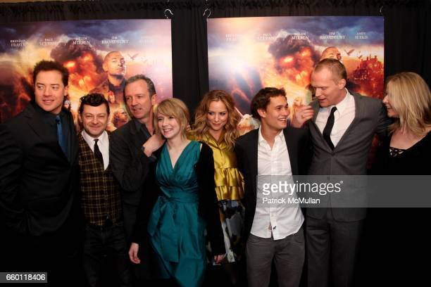 Brendan Fraser Andy Serkis Iain Softley Eliza Hope Bennett Sienna Guillory Rafi Gavron Paul Bettany and Cornelia Funke attend The New York Premiere...