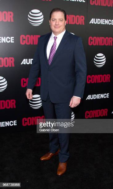 Brendan Fraser arrives for the premiere of ATT Audience Network's 'Condor' at NeueHouse Hollywood on June 6 2018 in Los Angeles California