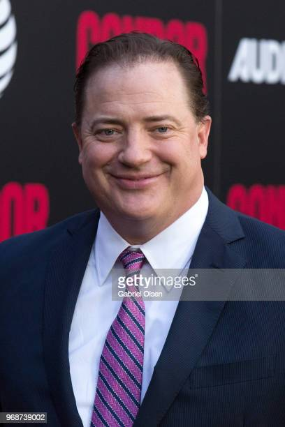 Brendan Fraser arrives for the premiere of ATT Audience Network's Condor at NeueHouse Hollywood on June 6 2018 in Los Angeles California