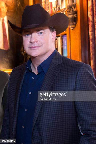 Brendan Fraser attends the FX Networks' 'Trust' cast lunch at The Lotos Club on March 15 2018 in New York City