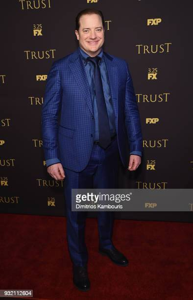 Brendan Fraser attends the FX Networks' Trust New York Screening at Florence Gould Hall on March 14 2018 in New York City