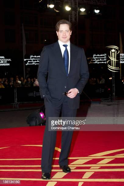 Brendan Fraser attends the 'When The Night' Red Carpet Premiere during Marrakech International Film Festival 2011 on December 6 2011 in Marrakech...