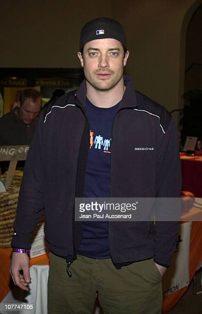 Brendan Fraser during 1st Annual Celebrity Dodgeball Game to Benefit The Elizabeth Glaser Pediatric Aids Foundation at Toluca Lake Tennis Club in Los...
