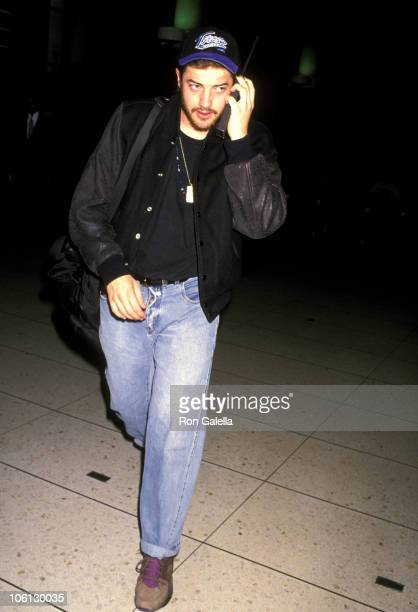 Brendan Fraser during Brendan Fraser Sighting at LAX January 14 1992 at Los Angeles International Airport in Los Angeles California United States