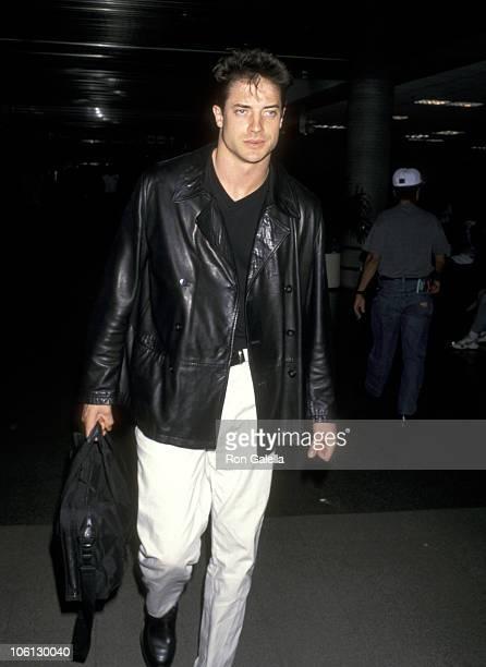 Brendan Fraser during Brendan Fraser Sighting at LAX June 251997 at Los Angeles International Airport in Los Angeles California United States