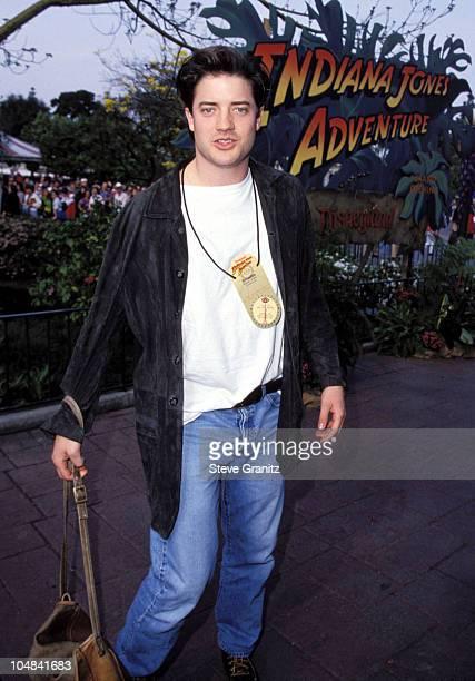Brendan Fraser during Indiana Jones Adventure Disneyland Opening at Disneyland in Los Angeles California United States