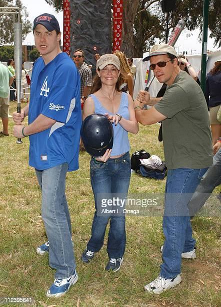 Brendan Fraser Julie Warner and Steven Culp during Elizabeth Glaser Pediatric AIDS Foundation A Time For Heroes Celebrity Carnival Inside in Los...