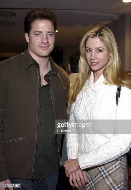 Brendan Fraser Mira Sorvino during 'The Quiet American' Screening at Harmony Gold in Hollywood CA United States