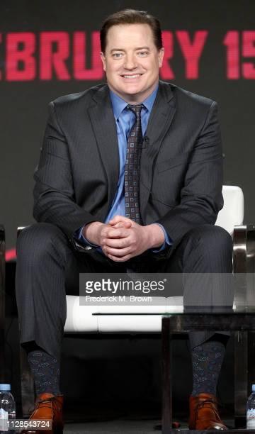 Brendan Fraser of the television show Doom Patrol speaks during the Warner Bros segment of the 2019 Winter Television Critics Association Press Tour...