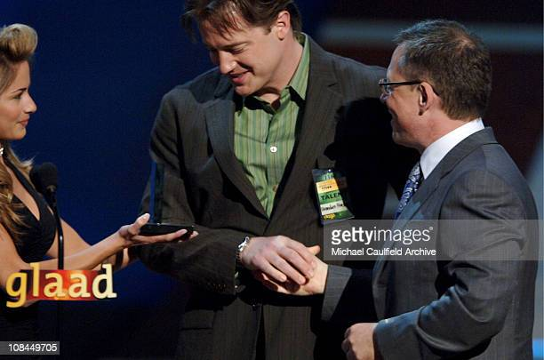 Brendan Fraser presents Stephen F Kolzak Award to Bill Condon
