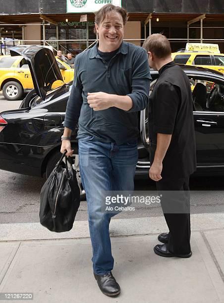 Brendan Fraser sighting on August 16 2011 in New York City