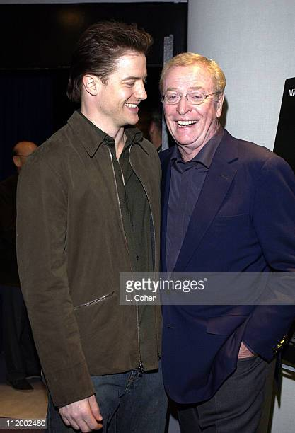 Brendan Fraser Sir Michael Caine during 'The Quiet American' Screening at Harmony Gold in Hollywood CA United States