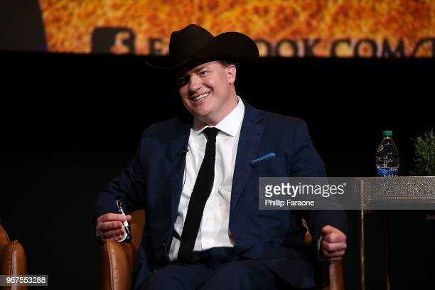 Brendan Fraser speaks onstage during the For Your Consideration Event for FX's 'Trust' at Saban Media Center on May 11 2018 in North Hollywood...