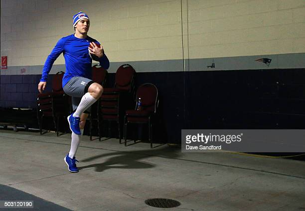 Brendan Gallagher of the Montreal Canadiens warms up before playing in the 2016 Bridgestone NHL Winter Classic against the Boston Bruins at Gillette...