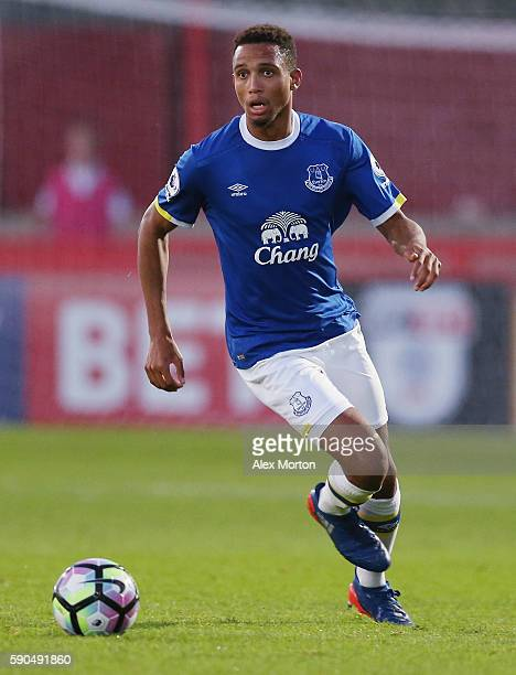 Brendan Galloway of Everton during the Premier League II match between Tottenham Hotspur and Everton at the Lamex Stadium on August 15, 2016 in...