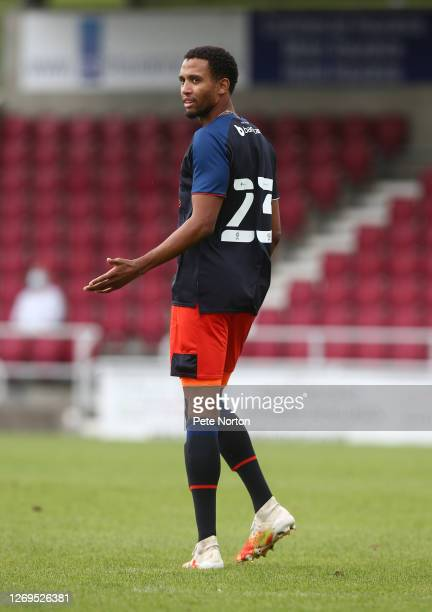 Brendan Galloway of Luton Town in action during a Pre-Season Match between Northampton Town and Luton Town at PTS Academy Stadium on August 29, 2020...