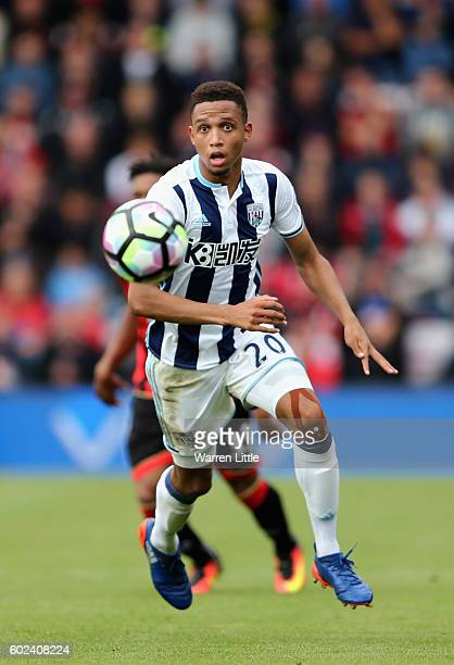Brendan Galloway of West Bromwich Albion in action during the Premier League match between AFC Bournemouth and West Bromwich Albion at Vitality...