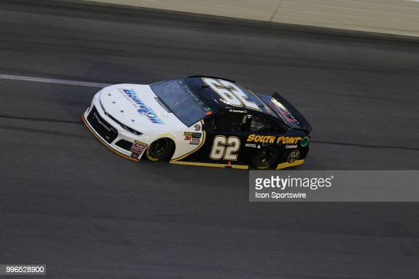 Brendan Gauhan driver of the Beard Oil Distributing/South Point Chevy during the Coke Zero 400 Monster Energy Cup Series race on July 7 at Daytona...