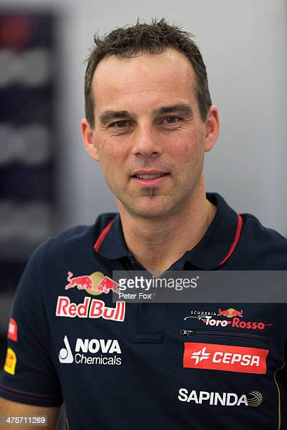 Brendan Gilhome the Scuderia Toro Rosso Head of Aerodynamics is seen during day two of Formula One Winter Testing at the Bahrain International...
