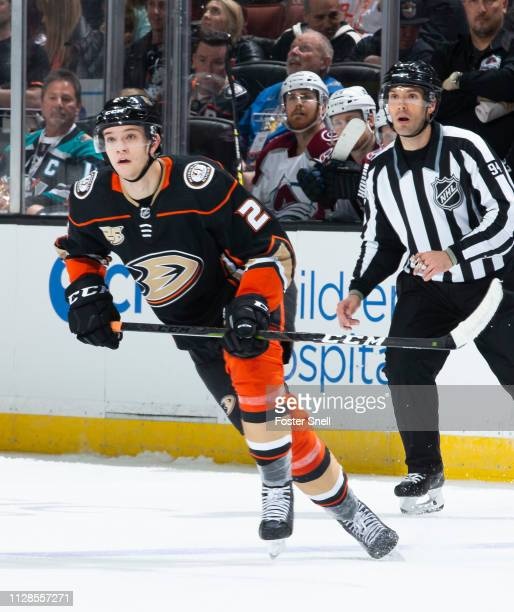 Brendan Guhle of the Anaheim Ducks skates against the Colorado Avalanche during the third period of the game at Honda Center on March 3 2019 in...