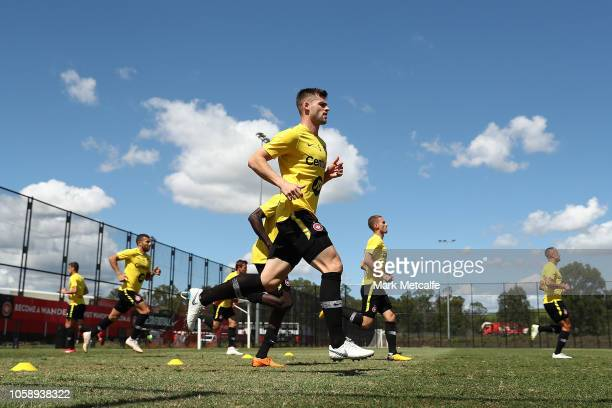 Brendan Hamill warms up during a Western Sydney Wanderers ALeague training session at Wanderers Training Field on November 8 2018 in Sydney Australia