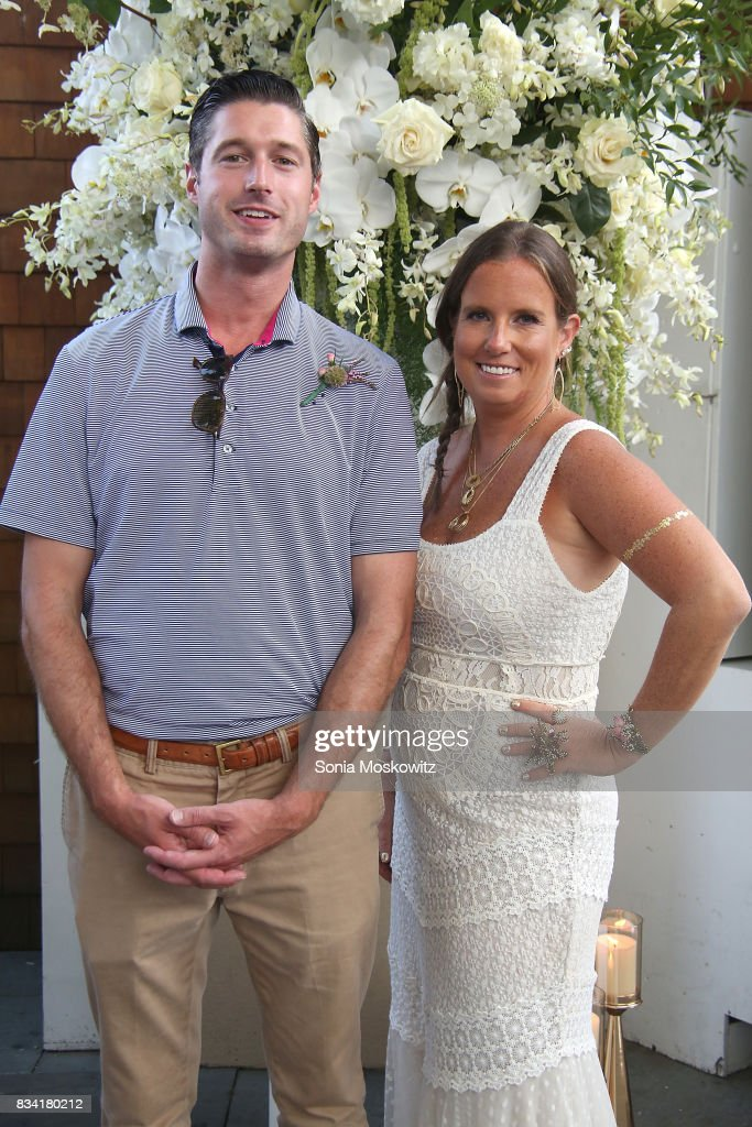 Brendan Hansbury and Bronwen Smith attend the B Floral Cocktail Hour at the Southampton Social Club on August 17, 2017 in Southampton, New York.