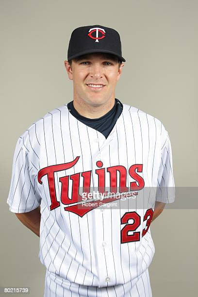 Brendan Harris of the Minnesota Twins poses for a portrait during photo day at Hammond Stadium on February 25 2008 in Ft Myers Florida