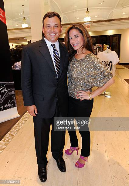 Brendan Hoffman and Suze Yalof Schwartz attend Fashion Night Out at Lord Taylor on September 8 2011 in New York City