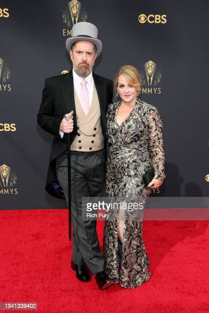 Brendan Hunt and Shannon Nelson attend the 73rd Primetime Emmy Awards at L.A. LIVE on September 19, 2021 in Los Angeles, California.
