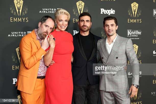 Brendan Hunt, Hannah Waddingham, Brett Goldstein, and Phil Dunster attend the Television Academy's Reception to Honor 73rd Emmy Award Nominees at...