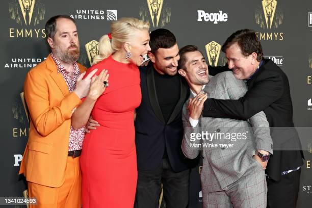 Brendan Hunt, Hannah Waddingham, Brett Goldstein, Phil Dunster, and Jeremy Swift attend the Television Academy's Reception to Honor 73rd Emmy Award...