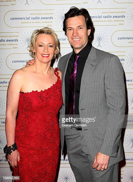 Brendan Jones and Amanda Keller arrive at the 2010 Australian Commercial Radio Awards at the Crown Palladium on October 16 2010 in Melbourne Australia