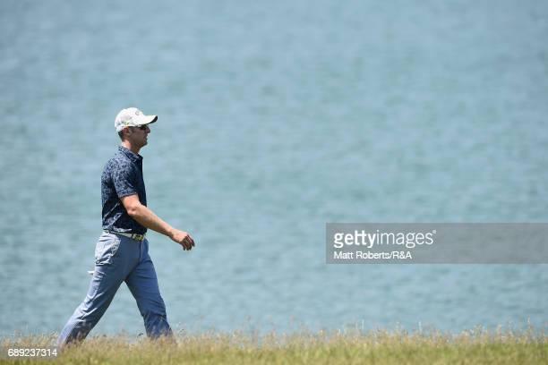 Brendan Jones of Australia walks the 18th fairway during the final round of Mizuno Open at JFE Setonaikai Golf Club on May 28 2017 in Okayama Japan