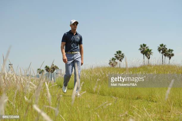 Brendan Jones of Australia walks to the 3rd tee during the final round of Mizuno Open at JFE Setonaikai Golf Club on May 28 2017 in Okayama Japan