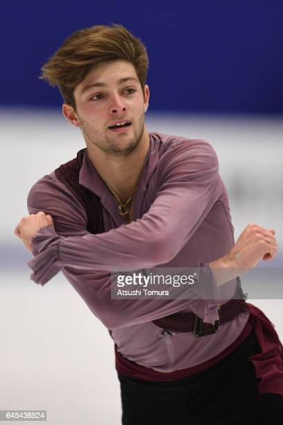 Brendan Kerry of Australia competes in figure skating men free skating on the day nine of the 2017 Sapporo Asian Winter Games at Makomanai indoor...