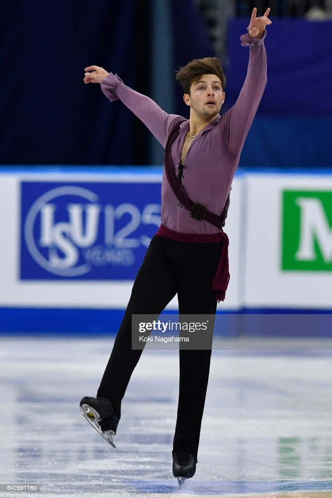 Brendan Kerry of Australia competes in the men's free skating during ISU Four Continents Figure Skating Championships - Gangneung -Test Event For PyeongChang 2018 at Gangneung Ice Arena on February 19, 2017 in Gangneung, South Korea.