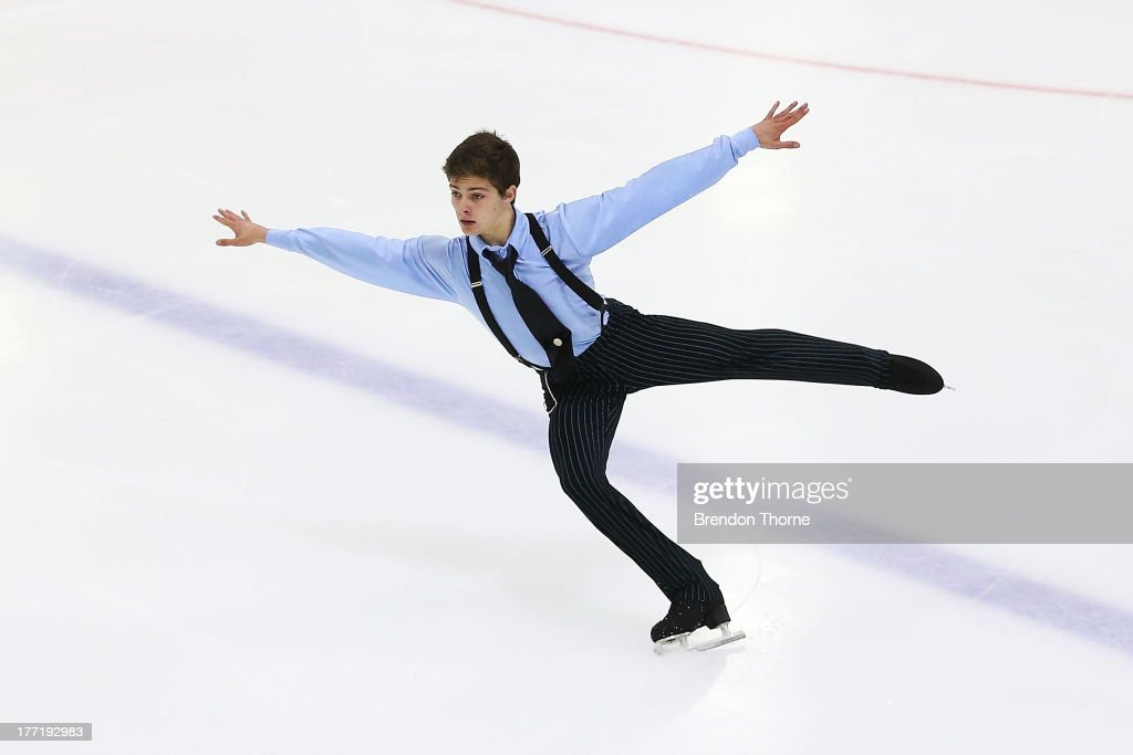 Brendan Kerry of Australia competes in the Senior Mens Free Program during Skate Down Under at Canterbury Olympic Ice Rink on August 22, 2013 in Sydney, Australia.