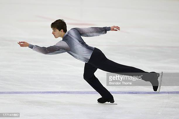 Brendan Kerry of Australia competes in the Senior Mens Short Program during Skate Down Under at Canterbury Olympic Ice Rink on August 21 2013 in...