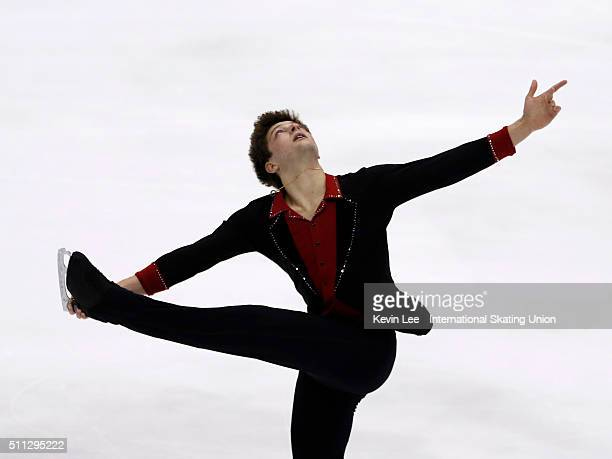 Brendan Kerry of Australia perform during the Men Short Program on day two of the ISU Four Continents Figure Skating Championships 2016 at Taipei...