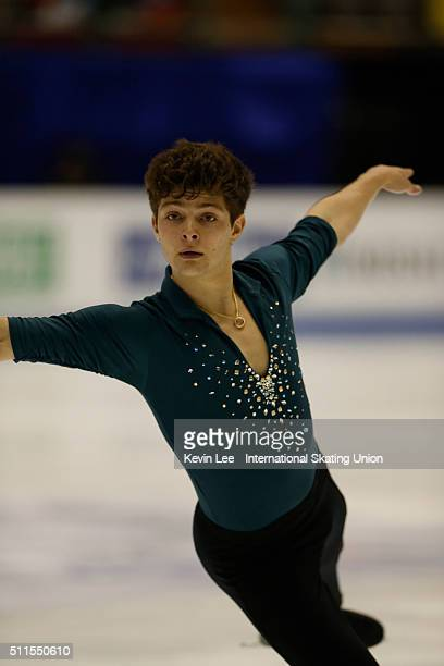 Brendan Kerry of Australia performs during the Men Free Skating on day four of the ISU Four Continents Figure Skating Championships 2016 at Taipei...