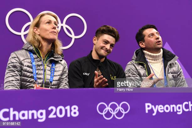 Brendan Kerry of Australia reacts after competing during the Men's Single Free Program on day eight of the PyeongChang 2018 Winter Olympic Games at...