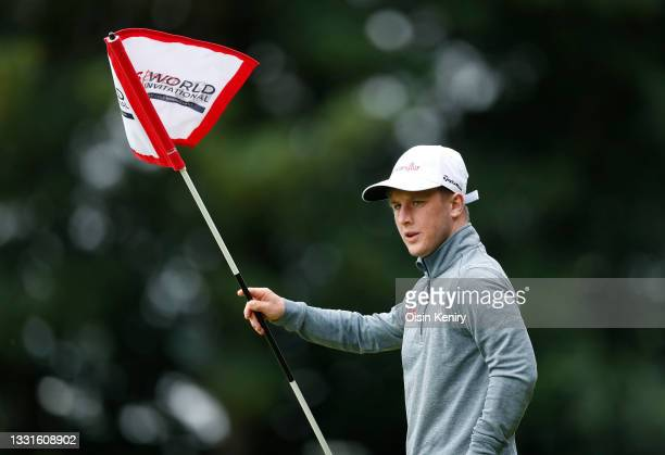 Brendan Lawlor of Ireland on the 14th hole during Day One of The EDGA ISPS HANDA World Disability Invitational at Massereene Golf Club on July 31,...