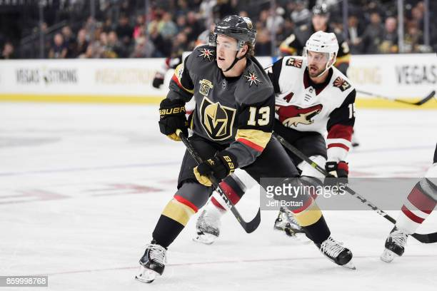 Brendan Leipsic of the Vegas Golden Knights skates against the Arizona Coyotes during the Golden Knights' inaugural regularseason home opener at...